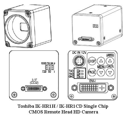 Toshiba IK-HR1HD/IK-HR1CD CMOS Remote Head HD Camera